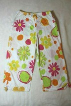 Fresh Produce Girls Capri Pants Sz 6X 7 White Multi-Color Floral Spring ... - $15.83