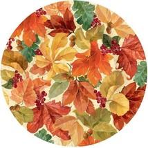 """Elegant Leaves 8 10.5"""" Dinner Plates Fall Thanksgiving - $13.49"""
