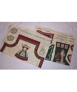 Victoriana Christmas Vtg Fabric Panels Crafts Apron Stockings Ornaments ... - $40.54