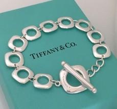 Tiffany & Co Sterling Silver Cushion Link Toggle Bracelet  - $225.00