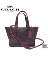 $350 COACH F20894 CROSBY HANDBAG NATURAL REFINED LEATHER PYTHON EMBOSSED... - $149.00