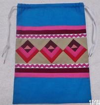 Native American Patchwork DEER HEART Pull String Bag Purse Handmade Semi... - $35.00