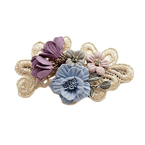 Hair Barrettes French Barrette Style Bowknot Cloth Hair Bow Handmade Flower