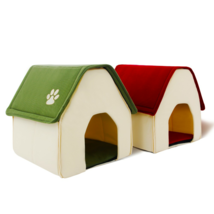 Pet Dog Cat Bed Portable Soft Cushion Crate House Home Shape Kennel Cozy... - $22.30+