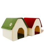 Pet Dog Cat Bed Portable Soft Cushion Crate House Home Shape Kennel Cozy... - $23.69+