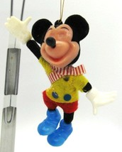 """Mickey Mouse Vintage Disney Plastic Holiday Christmas Ornament 4"""" tall  - $7.91"""