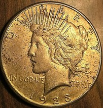 1923-S UNITED STATES SILVER PEACE DOLLAR COIN - Excellent example! - $33.96