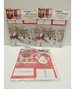 Peck Jumbo 6x6x10 Christmas Gift Boxes Lot 6 Church Sleigh Ride Santa St... - $19.99