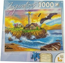 Inspirations Sunset Cove Lighthouse 1000 PC Jigsaw Puzzle - $19.79