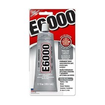 E6000 Craft Glue Adhesive Industrial Strength Bond Paintable 3.7 Oz Tube, Clear image 1