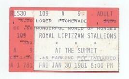 RARE Royal Lipizzan Stallions 1/30/81 Show at the Houston Summit Ticket ... - $1.99
