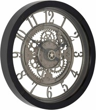 "Nice Wall Clock 24"" 2' Large Analog Contemporary Industrial Gears Steampunk - $169.00"