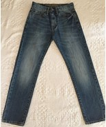 AMERICAN EAGLE Men's Original Taper Distress Wash Blue Jeans Size 26/28 - $15.95