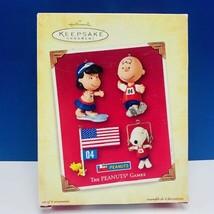 Hallmark Keepsake Peanuts games Christmas ornament nib Snoopy Charlie Brown Lucy - $14.45
