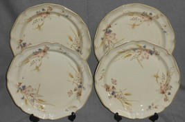 Set (4) 1980s MIKASA Heritage GOLDEN SKY PATTERN Dinner Plates MADE IN J... - $71.27