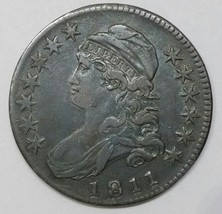 1811 Large 8 Capped Bust Half Dollar 50c Coin Lot# E 11