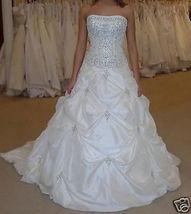 Ivory  Embroidery  Beaded Taffeta Wedding Dresses   Women Bridal Dress L... - $100.00