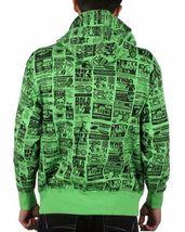 Corner Store Hero Green Hooded Sweatshirt Zip Up Hoodie Sweater Sex Ad NWT image 3