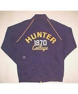 Hunter College Hawks Est 1870 N.Y. City Purple Gold Vintage Zip Track Ja... - $54.45
