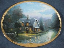 Lamplight Glen Collector Plate Lamplight Village Thomas Kinkade with COA... - $29.95