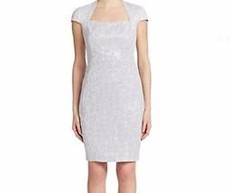 NWT WOMEN  JAX STUDIO Metallic Laurel Cap Sleeves Sheath Dress size 2 - $47.96