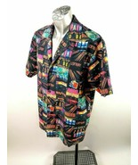 Third Rail Hawaiian Gambling Men Camp Shirt Size L SS Aloha Casino Lucky - $24.95