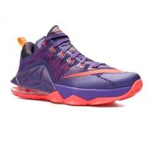 Nike Lebron XII Low Raptors Court Purple Bright Crimson 724557-565 Mens 9 image 2
