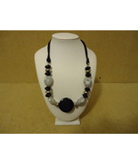 Designer Fashion Necklace 20in Beaded/Strand Female Adult Blacks/Silvers - $17.84