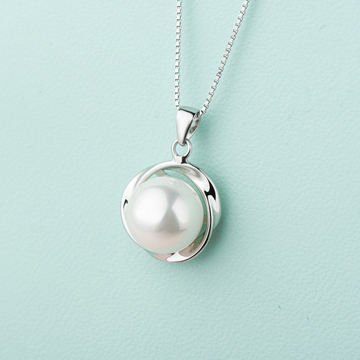 Fashion Women Sterling Silver Shell Pearl Pendant