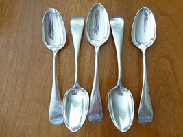 "5 Palmer & Bachelder BOSTON MA Sterling Silver Teaspoon Spoon 6""  Monog - $199.99"