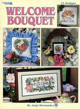Welcome Bouquet 23 Cross Stitch Designs Leaflet 3074 Roses Dove Welcome ... - $7.95