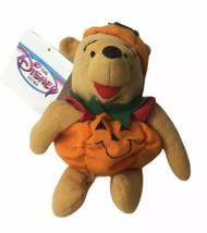 "Disney Store Mini Bean Bag Pumpkin Pooh 8"" Plush Soft Toy Stuffed Animal - $9.80"