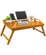 Media Bed Tray / Breakfast Table with Phone/Tablet Holder - Natural Bamb... - $65.00