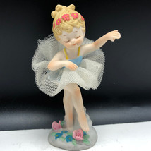 GEORGE GOOD BALLERINA FIGURINE vintage porcelain dancer girl statue flow... - $25.74