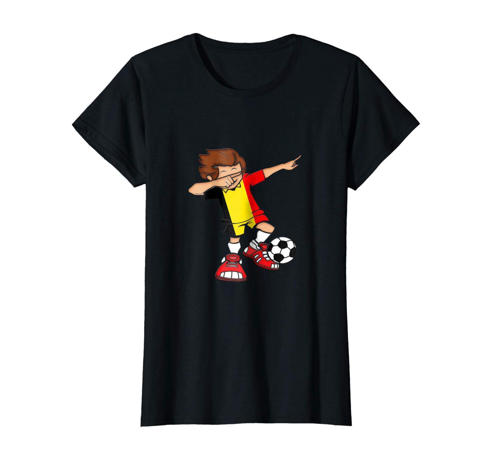 Sport Shirts - Dabbing Soccer Boy Belgium Jersey T Shirt - Belgian Football Wowe