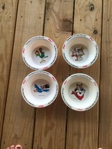 "Vintage 1995 Set of 4 Collectible Kellogg's Cereal 6.5"" Cereal Bowls - $14.52"