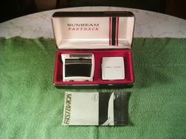 Vintage Sunbeam Fastback Electric Shaver 1968 w/Case, Cord Spool, Brush & Manual - $40.00