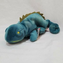 Iggy Iguana Teal Ty Beanie Baby Plush Stuffed Animal Toy 1997 - $9.99