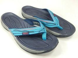 Keen Kona Clapet II Sz US 8 M (B) Eu 38,5 Femmes Sandales Sport Bleu/Vert - $37.53