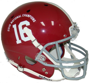 Primary image for Alabama Crimson Tide unsigned Schutt #16 Full Size Replica Helmet 2015 National