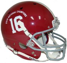 Alabama Crimson Tide unsigned Schutt #16 Full Size Replica Helmet 2015 N... - $94.95