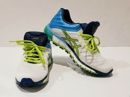 Womens Asics Shoes Gel-Quantum 180  Running White Lime Turquoise T5J7N 0105 SZ 9 - $62.86