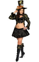 Mad Hatter Costume Womens XL Alice in Wonderland Sexy 4pc Set Roma NEW - $69.95
