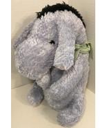 Disney Classic Eeyore plush green bow ribbon Winnie the Pooh's friend - $19.79