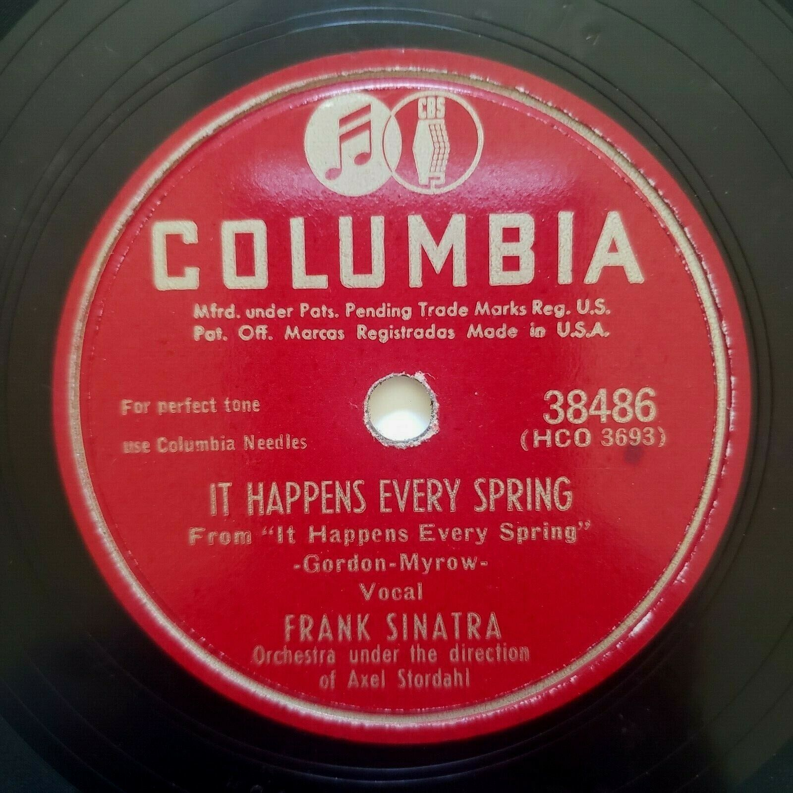 Primary image for Frank Sinatra - Columbia - 78 RPM - It Happens Every Spring / The Huckle Buck