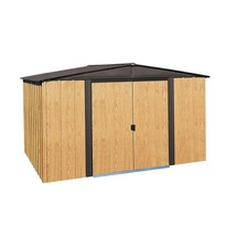 Storage Barn Shed Steel w/ Floor Kit Lockable Double Door 6 x 5 Outdoor ... - $340.07