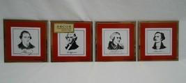 David Douglas Founding Fathers Glass Coasters American Revolution Vintag... - $34.99
