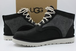 UGG Bethany Women's Boot Black Canvas Leather Winter Boot 1016668 Size 6.5 - NEW - $121.54