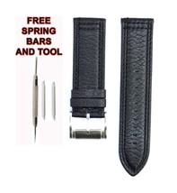Fossil FS4866 24mm Black Leather Watch Strap Band FSL110 - $28.71
