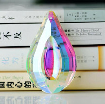 5Pcs Crystal Chandelier Pendant Rainbow Color Glass Suncatcher For Wedding Decor - $9.49